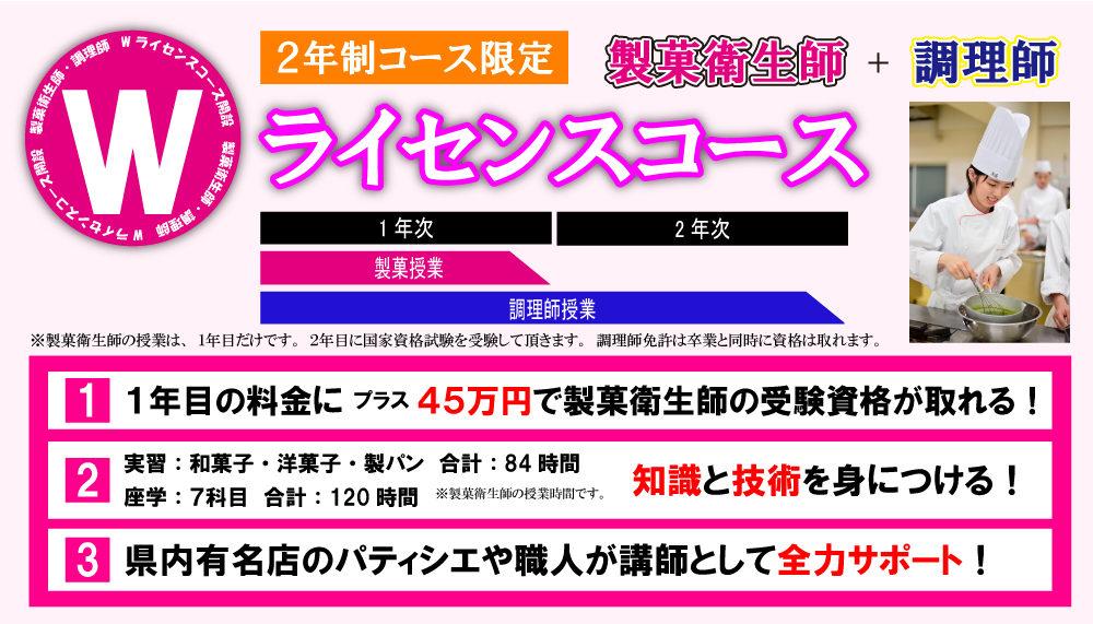 調理師科2年制併修 製菓衛生師コース